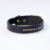 Fancy dog leather collar with antifriction protection