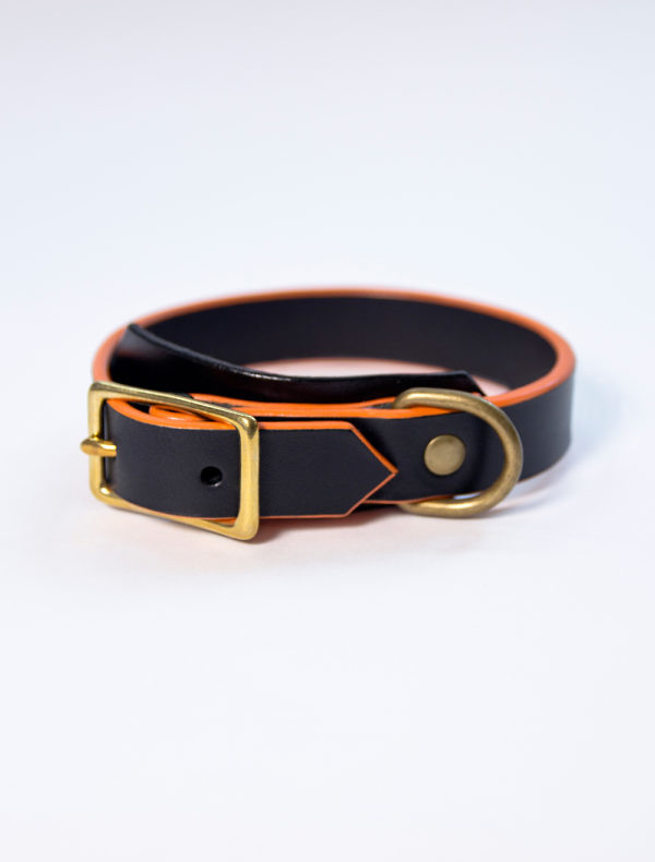 Stylish dog leather collar