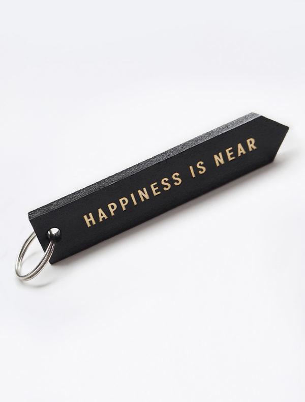 Leather hot-stamping keyring