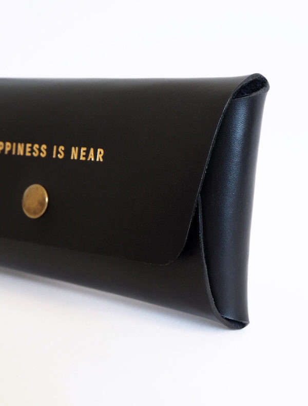 Black leather wallet BUDDZA