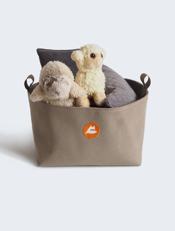 Fabric dog toy box
